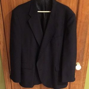 David Taylor 50L navy blazer with gold buttons